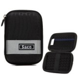 Saco External Hard Disk Hard Case Pouch Cover Bag for Lacie Porsche Design Mobile Drive 9000461 2 TB - Black